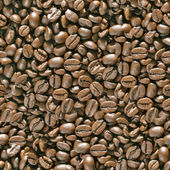 Coffee beans seamless background. — Stock Photo