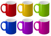 Varicoloured cups. — Stock Photo