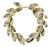 Bronzed laurel wreath. — Stock Photo