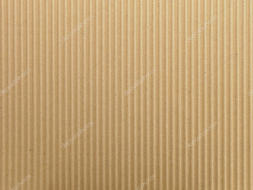 Goffered brown cardboard with vertical grooves. — Stock Photo #1110072