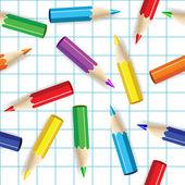Kleur potloden naadloze achtergrond. — Stockvector