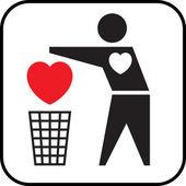 Heartless. — Stock Vector