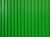 Green corrugated surface. — Stock Photo