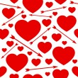 Royalty-Free Stock Imagem Vetorial: Hearts and arrows seamless background.