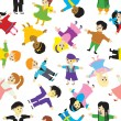 Children seamless background. - Stockvectorbeeld