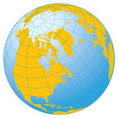 Globe. — Stock Vector