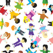 Children seamless background. — Vector de stock