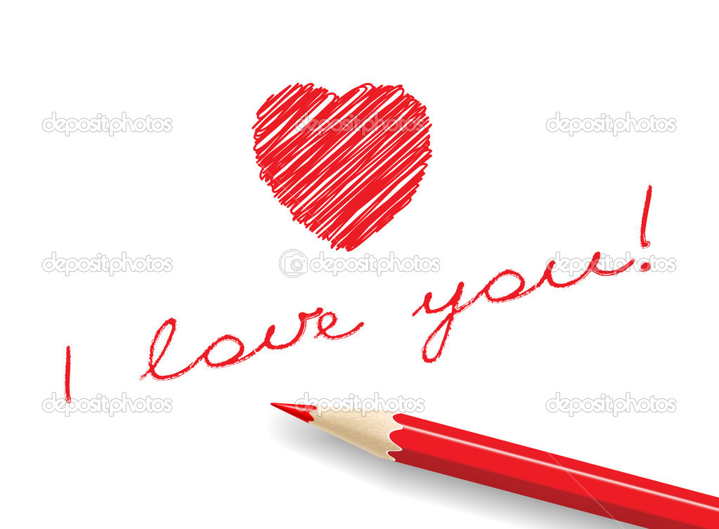 Love message. — Stock Vector #1124386