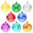 Royalty-Free Stock Vector Image: Christmas-tree decorations.