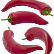 Stock Photo: Red hot chilli peppers.