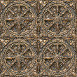 Metal seamless decorative pattern. - Stock Photo