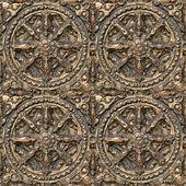 Metal seamless decorative pattern. — Stock Photo