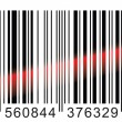 Stock Vector: Barcode scaning.