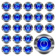 Media-player buttons. - Stock Vector