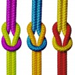Varicolored ropes. — Stock Photo