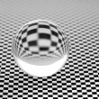 Glassy ball. - Stock Photo