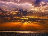 Sunset over sea. — Stock Photo