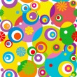 Abstract circle seamless pattern. — Image vectorielle