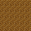 Photo: Floral gold seamless background.