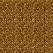 Stok fotoğraf: Floral gold seamless background.