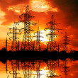 Electric power line. - Stock Photo