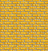 Yellow brickwork seamless pattern. — Stock Photo