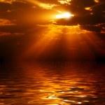 Sunrise over sea. — Stock Photo