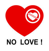 No love !!! — Stock Vector