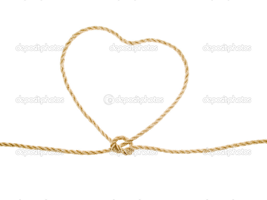Heart as lasso on white background (isolated). — Stock Photo #1594812