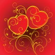 Royalty-Free Stock Vector Image: Two red hearts.