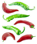 Red and green chilli peppers. — Stock Photo