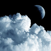 Moon and cloud. — Stock Photo