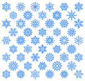 Snowflake set. — Stockvector