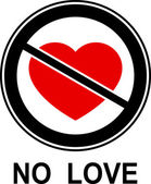 No love! — Vettoriale Stock