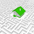 Stock Photo: Green house into labyrinth.