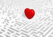 Heart into labyrinth. — Stock Photo