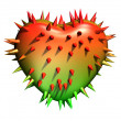 Prickly heart. - Stock Photo