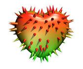 Coração de espinhosas. — Foto Stock