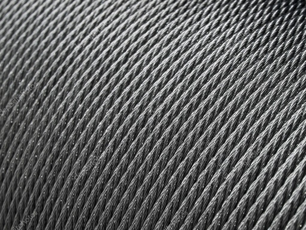 Steel rope coil - abstract industrial background. — Foto de Stock   #1943643