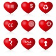 Royalty-Free Stock Vector Image: Hearts set (allegorical icon).