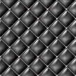 Black leather vector seamless pattern. — Stock Vector