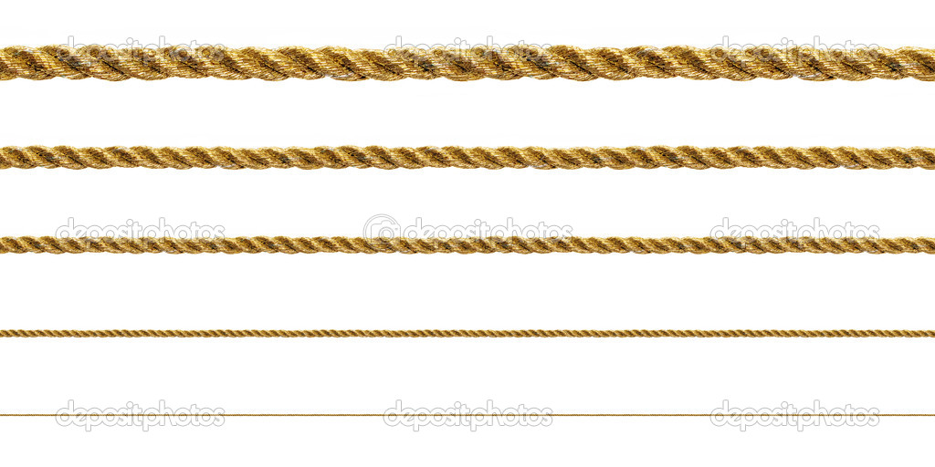 Seamless golden rope on white background (isolated). — Stock Photo #2604307