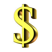 Gold dollar symbol. — Stock Photo