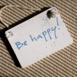 Be happy plate — Stockfoto