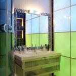 Chamelеon bathroom — Stock Photo