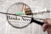 финансовые акцент — Стоковое фото