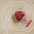 Uncorking a heart — Stock Photo