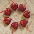 Round dance of a hearts — Stock Photo