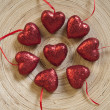 Round dance of a hearts - Stock Photo