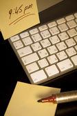 Post-it note met een herinnering — Stockfoto
